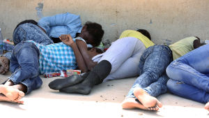 Migranter i Libyen.