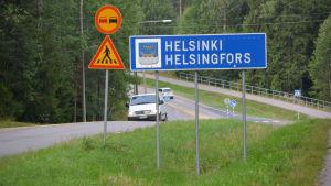 Gränsen mellan Helsingfors och Sibbo vid Östersundom