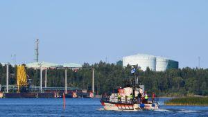 Sjöräddningsbåt utanför Sköldvik