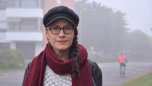 Annika Åman är  konstärlig ledare för Unga scenkompaniet