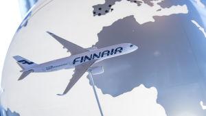Finnairplan i luften