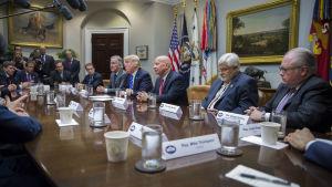 Trump och republikanska ledare i kongressen måste nu förhandla med varandra och demokrater om hur skatteplanen skall finansieras