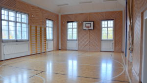 Gymnastiksalen i den gamla skolan.
