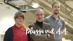 Linda Javén, Holger Weiss och Tommi Kippola