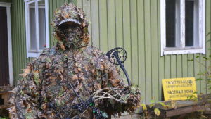 Anton Lindborg i kamouflage för sommar.