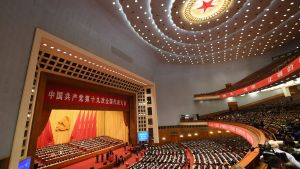 Det kinesiska kommunistpartiets avslutande session under partikongressen, 24.10.2017.