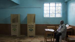 Vallokal i Gatundu, Kenya.