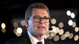 Centerns presidentkandidat riksdagsledamot Matti Vanhanen på Centerns kryssning den 15 oktober 2017.