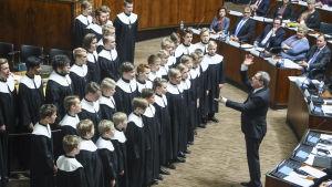 Nordiska ministrar samlades i riksdagssalen i Finland.