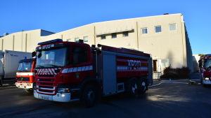 Brandkåren snabbt på plats
