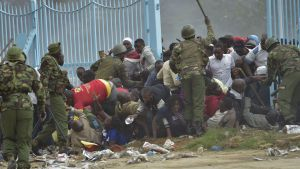 Oroligt i Nairobi inför presidentinstallation.