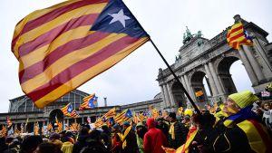 Demonstration för Katalonien 7.12.2017 i Bryssel.