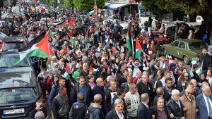 Demonstration i Libanon mot Trumps beslut att erkänna Jerusalem som Israels huvudstad