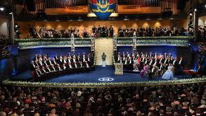 Nobelprisutdelning i Stockholm.