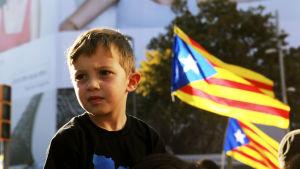 nuori poika mielenosoituksessa.
