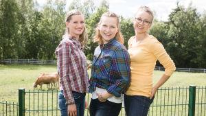 Ylen eläinlääkärikandit Veera, Maija ja Mathilda