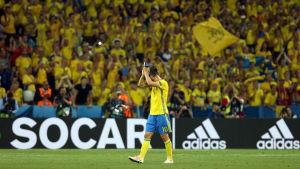 Zlatan Ibrahimovic i svenska landslaget 2016.