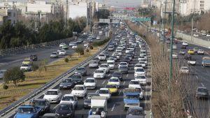Huvudvägen in till Teheran.
