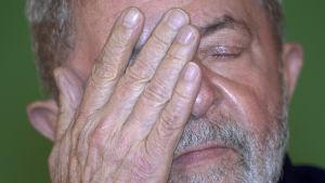 Lula da Silva deltog i ett seminarium efter nyheten om domen i Porto Alegre