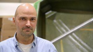 Projektchef Max Nordlund vid Boomeranger Boats
