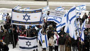 Demonstration för Israel i Helsingfors