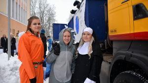 Utklädda abiturienter i Lovisa
