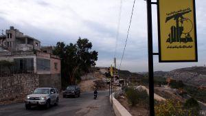 Hizbollahin julisteita Etelä-Libanonissa