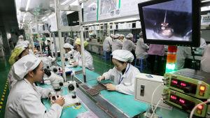 Trump anklagar kinesiska företag och fabriker för att stjäla Immateriella rättigheter, som licens och patent av amerikanska företag