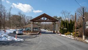 Infarten till Fethullah Gülens hem i Saylorsburg i Pennsylvania, USA