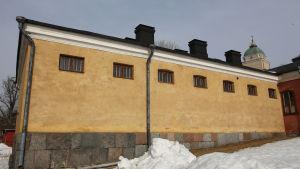 De dödsdömdas korridor på Sveaborg 1918 fotad utifrån 2018