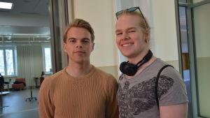 Darren McCracken och Vilhelm Ahlskog.