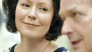 Republikens president Sauli Niinistö och fru Jenni Haukio.