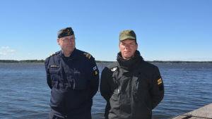 Kaptenlöjtnanterna Joakim Rosenlöf och Tuomas Runola