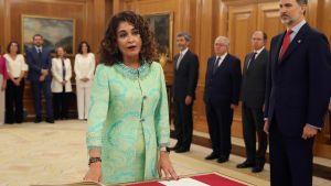 Spaniens nya finansminister Maria Jesus Montero