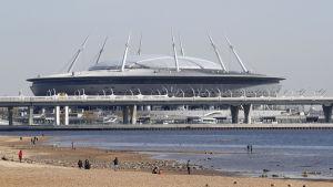 krestovsky stadion på avstånd
