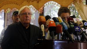FN-sändebudet Martin Griffiths besökte Sanaa också i början av juni.