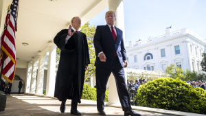 Domaren Anthony Kennedy och president Donald Trump