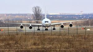 En bild på Rysslands presidents flygplan.