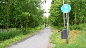 Cykelväg i Lojo.