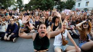 Protest i Spanien