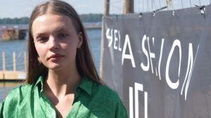 Selma af Schultén deltar i Helsinki Fashion Week.