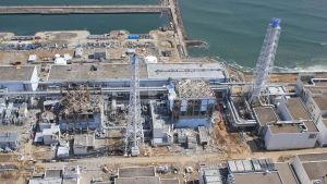 Kärnkraftverket i Fukushima efter flodvågen 2011.