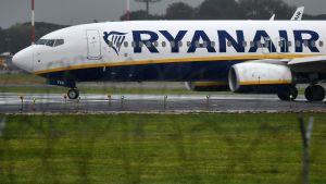 Flyplan tillhörande Ryanair