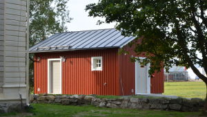 Teknikbyggnaden vid Korsnäs kyrka