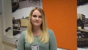 Ellinor Johansson studerar första året vid polisyrkeshögskolan i Tammerfors.