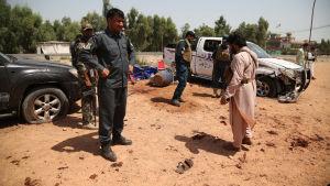 Självmordsbombare slog till i Jalalabad i augusti.