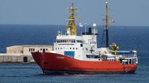Räddningsfartyget Aquarius i Medelhavet