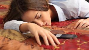 Utmattad kvinna