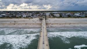 Strand i North Carolina ett par dagar innan orkanen Florence väntas nå land.