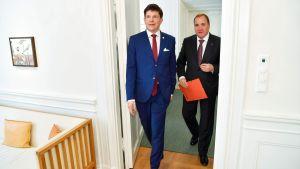 Andreas Norlén och Stefan Löfven